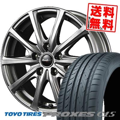 195/65R15 TOYO TIRES トーヨー タイヤ PROXES C1S プロクセス C1S EuroSpeed V25 ユーロスピード V25 サマータイヤホイール4本セット【取付対象】