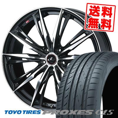 195/65R15 91V TOYO TIRES トーヨー タイヤ PROXES C1S プロクセス C1S WEDS LEONIS GX ウェッズ レオニス GX サマータイヤホイール4本セット