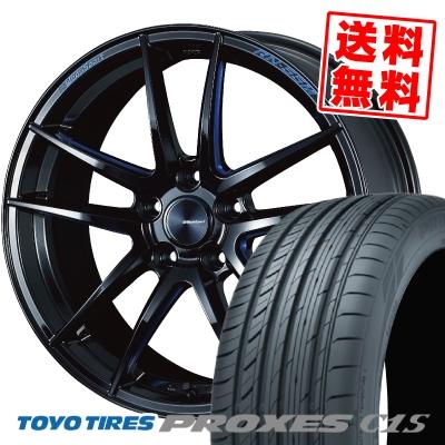 225/45R18 95W TOYO TIRES トーヨー タイヤ PROXES C1S プロクセス C1S WedsSport RN-55M ウェッズスポーツ RN-55M サマータイヤホイール4本セット【取付対象】
