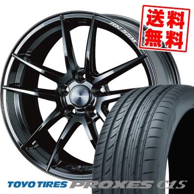 235/50R18 101W TOYO TIRES トーヨー タイヤ PROXES C1S プロクセス C1S WedsSport RN-55M ウェッズスポーツ RN-55M サマータイヤホイール4本セット【取付対象】
