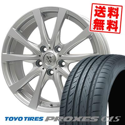 195/65R15 91V TOYO TIRES トーヨー タイヤ PROXES C1S プロクセス C1S TRG-SILBAHN TRG シルバーン サマータイヤホイール4本セット