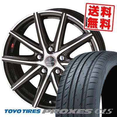 235/50R18 101W TOYO TIRES トーヨー タイヤ PROXES C1S プロクセス C1S SMACK PRIME SERIES VANISH スマック プライムシリーズ ヴァニッシュ サマータイヤホイール4本セット