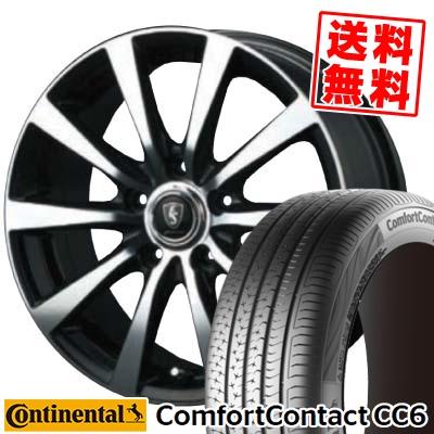 205/65R15 CONTINENTAL コンチネンタル ComfortContact CC6 コンフォートコンタクト CC6 EuroSpeed BL10 ユーロスピード BL10 サマータイヤホイール4本セット