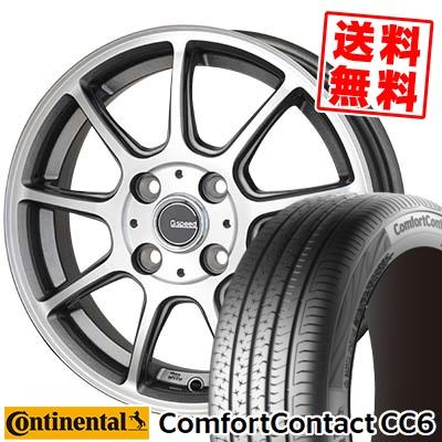 185/65R14 CONTINENTAL コンチネンタル ComfortContact CC6 コンフォートコンタクト CC6 G.Speed P-01 Gスピード P-01 サマータイヤホイール4本セット