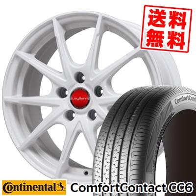 195/60R15 CONTINENTAL コンチネンタル ComfortContact CC6 コンフォートコンタクト CC6 LeyBahn WGS レイバーン WGS サマータイヤホイール4本セット