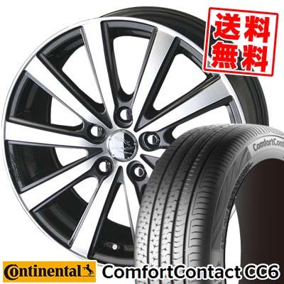 195/65R15 CONTINENTAL コンチネンタル ComfortContact CC6 コンフォートコンタクト CC6 SMACK VIR スマック VI-R サマータイヤホイール4本セット