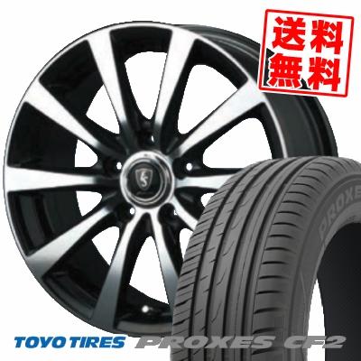 205/60R15 91H TOYO TIRES トーヨー タイヤ PROXES CF2 プロクセス CF2 EUROSPEED BL10 ユーロスピード BL10 サマータイヤホイール4本セット