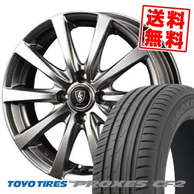 185/60R15 84H TOYO TIRES トーヨー タイヤ PROXES CF2 プロクセスCF2 Euro Speed G10 ユーロスピード G10 サマータイヤホイール4本セット