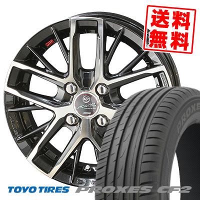 185/60R15 84H TOYO TIRES トーヨー タイヤ PROXES CF2 プロクセス CF2 SMACK REVILA スマック レヴィラ サマータイヤホイール4本セット