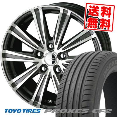 205/60R15 91H TOYO TIRES トーヨー タイヤ PROXES CF2 プロクセス CF2 SMACK SPARROW スマック スパロー サマータイヤホイール4本セット【取付対象】
