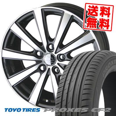 205/60R15 91H TOYO TIRES トーヨー タイヤ PROXES CF2 プロクセス CF2 SMACK VIR スマック VI-R サマータイヤホイール4本セット【取付対象】