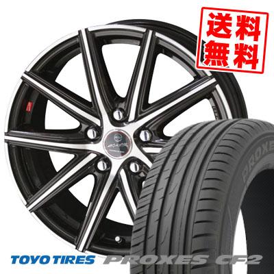 205/60R15 91H TOYO TIRES トーヨー タイヤ PROXES CF2 プロクセス CF2 SMACK PRIME SERIES VANISH スマック プライムシリーズ ヴァニッシュ サマータイヤホイール4本セット