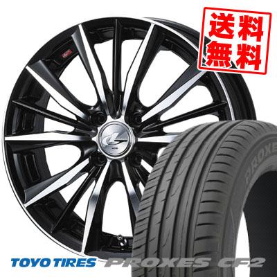 185/60R15 84H TOYO TIRES トーヨー タイヤ PROXES CF2 プロクセスCF2 weds LEONIS VX ウエッズ レオニス VX サマータイヤホイール4本セット