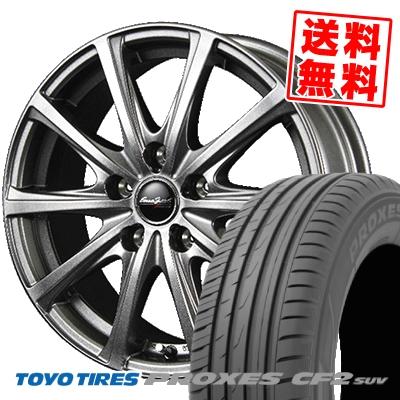 215/70R15 98H TOYO TIRES トーヨー タイヤ PROXES CF2 SUV プロクセス CF2 SUV EuroSpeed V25 ユーロスピード V25 サマータイヤホイール4本セット【取付対象】