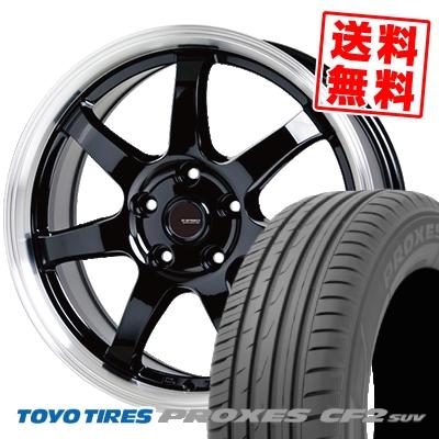 235/55R18 100V TOYO TIRES トーヨー タイヤ PROXES CF2 SUV プロクセス CF2 SUV G.speed P-03 ジースピード P-03 サマータイヤホイール4本セット