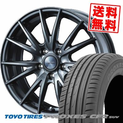 215/50R18 92V TOYO TIRES トーヨー タイヤ PROXES CF2 SUV プロクセス CF2 SUV VELVA SPORT ヴェルヴァ スポルト サマータイヤホイール4本セット