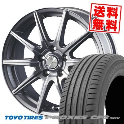 215/70R16 100H TOYO TIRES トーヨー タイヤ PROXES CF2 SUV プロクセス CF2 SUV V-EMOTION SR10 Vエモーション SR10 サマータイヤホイール4本セット【取付対象】