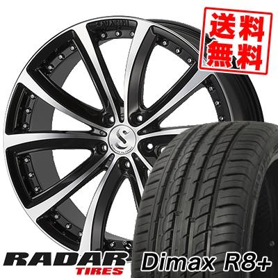 225/35R18 87Y XL RADAR レーダー Dimax R8+ ディーマックス アールエイト プラス SAVATINI AVANTI サヴァティーニ アヴァンティ サマータイヤホイール4本セット
