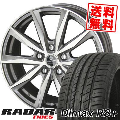215/45R18 93Y XL RADAR レーダー DimaxR8+ ディーマックス アールエイト プラス SMACK BASALT スマック バサルト サマータイヤホイール4本セット【取付対象】