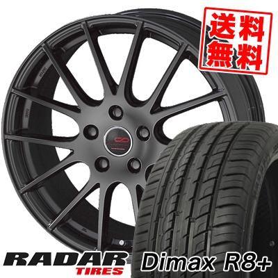 215/45R18 93Y XL RADAR レーダー DimaxR8+ ディーマックス アールエイト プラス ENKEI CREATIVE DIRECTION CDM1 エンケイ クリエイティブ ディレクション CD-M1 サマータイヤホイール4本セット