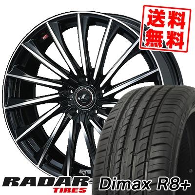 225/35R18 87Y XL RADAR レーダー Dimax R8+ ディーマックス アールエイト プラス WEDS LEONIS CH ウェッズ レオニス CH サマータイヤホイール4本セット