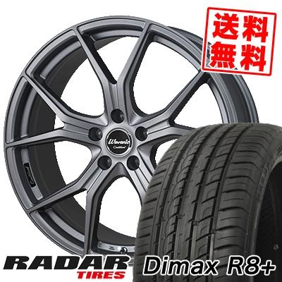 225/35R18 87Y XL RADAR レーダー Dimax R8+ ディーマックス アールエイト プラス MONZA Warwic Coulthard モンツァ ワーウィック クルサード サマータイヤホイール4本セット