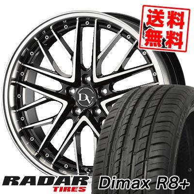 225/45R18 95Y XL RADAR レーダー Dimax R8+ ディーマックス アールエイト プラス DIAVOLETTO DELIE ディアヴォレット デェリエ サマータイヤホイール4本セット
