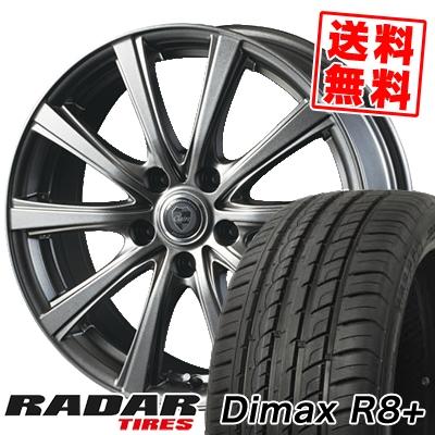 215/40R18 89Y XL RADAR レーダー Dimax R8+ ディーマックス アールエイト プラス CLAIRE DG10 クレール DG10 サマータイヤホイール4本セット