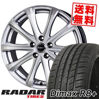 215/45R18 93Y XL RADAR レーダー DimaxR8+ ディーマックス アールエイト プラス Exceeder E04 エクシーダー E04 サマータイヤホイール4本セット