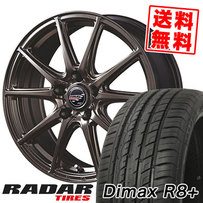 225/35R18 87Y XL RADAR レーダー Dimax R8+ ディーマックス アールエイト プラス FINALSPEED GR-Volt ファイナルスピード GRボルト サマータイヤホイール4本セット