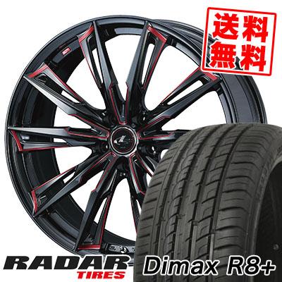 245/45R19 102Y XL RADAR レーダー Dimax R8+ ディーマックス アールエイト プラス WEDS LEONIS GX ウェッズ レオニス GX サマータイヤホイール4本セット