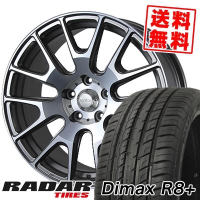 225/35R18 87Y XL RADAR レーダー Dimax R8+ ディーマックス アールエイト プラス IGNITE XTRACK イグナイト エクストラック サマータイヤホイール4本セット