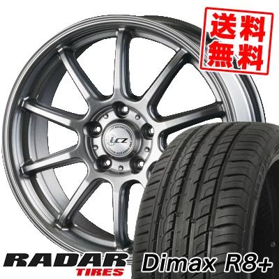 225/45R18 95Y XL RADAR レーダー Dimax R8+ ディーマックス アールエイト プラス LCZ010 LCZ010 サマータイヤホイール4本セット