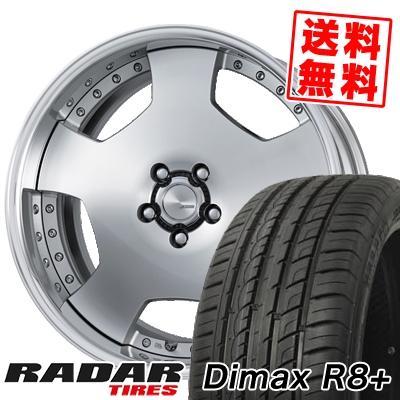 255/45R20 105Y XL RADAR レーダー Dimax R8+ ディーマックス アールエイト プラス WORK LANVEC LD1 ワーク ランベック エルディーワン サマータイヤホイール4本セット