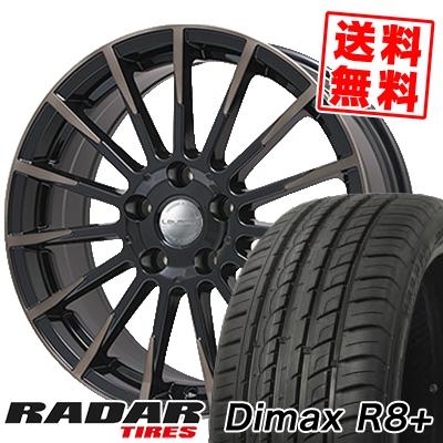 225/45R18 95Y XL RADAR レーダー Dimax R8+ ディーマックス アールエイト プラス Leyseen F-XV レイシーン FX-V サマータイヤホイール4本セット