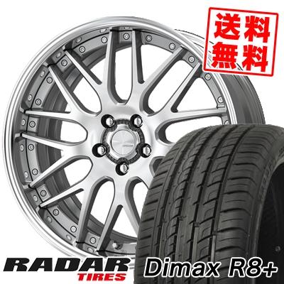 235/55R19 105W XL RADAR レーダー Dimax R8+ ディーマックス アールエイト プラス WORK LANVEC LM1 ワーク ランベック エルエムワン サマータイヤホイール4本セット