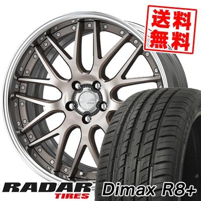 255/45R20 105Y XL RADAR レーダー Dimax R8+ ディーマックス アールエイト プラス WORK LANVEC LM1 ワーク ランベック エルエムワン サマータイヤホイール4本セット