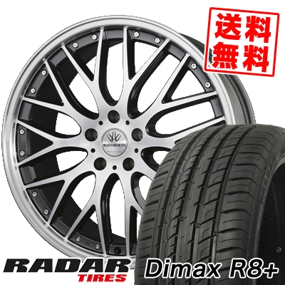 215/40R18 89Y XL RADAR レーダー Dimax R8+ ディーマックス アールエイト プラス BADX LOXARNY MULTIFORCHETTA バドックス ロクサーニ マルチフォルケッタ サマータイヤホイール4本セット