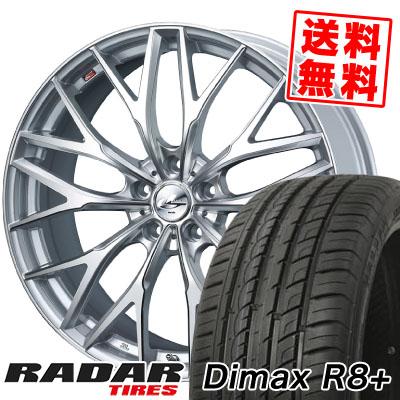 225/35R18 87Y XL RADAR レーダー Dimax R8+ ディーマックス アールエイト プラス weds LEONIS MX ウェッズ レオニス MX サマータイヤホイール4本セット