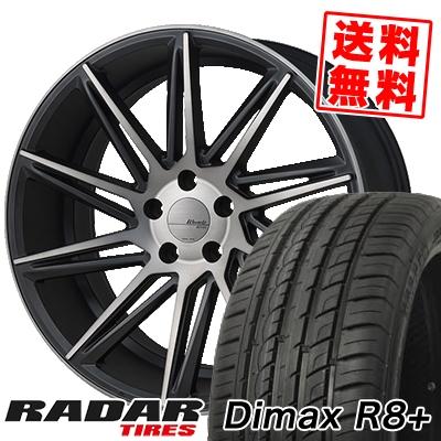225/35R18 87Y XL RADAR レーダー Dimax R8+ ディーマックス アールエイト プラス MONZA Warwic REVOX モンツァ ワーウィック レヴォックス サマータイヤホイール4本セット