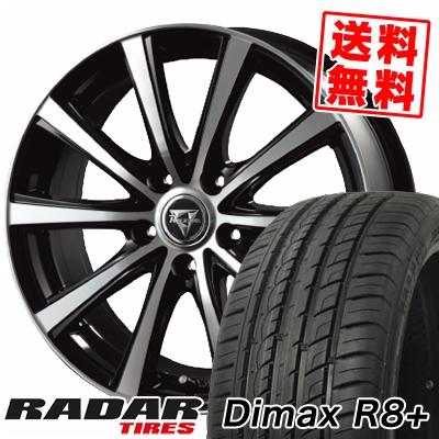 225/35R18 87Y XL RADAR レーダー Dimax R8+ ディーマックス アールエイト プラス Razee XV レイジー XV サマータイヤホイール4本セット
