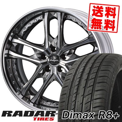 265/40R22 106W XL RADAR レーダー Dimax R8+ ディーマックス アールエイト プラス weds Kranze Scintill ウェッズ クレンツェ シンティル サマータイヤホイール4本セット