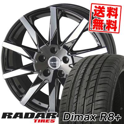 215/45R18 93Y XL RADAR レーダー DimaxR8+ ディーマックス アールエイト プラス SMACK SFIDA スマック スフィーダ サマータイヤホイール4本セット【取付対象】