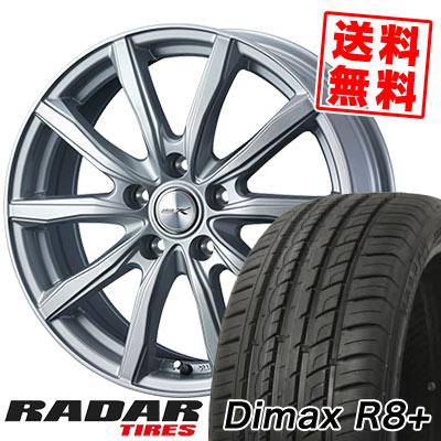 225/45R18 95Y XL RADAR レーダー Dimax R8+ ディーマックス アールエイト プラス JOKER SHAKE ジョーカー シェイク サマータイヤホイール4本セット