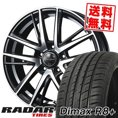 225/35R18 87Y XL RADAR レーダー Dimax R8+ ディーマックス アールエイト プラス EouroSport Shandry SE ユーロスポーツ シャンドリーSE サマータイヤホイール4本セット