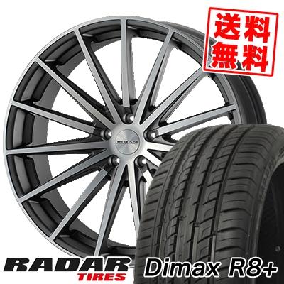 225/35R18 87Y XL RADAR レーダー Dimax R8+ ディーマックス アールエイト プラス ROJAM Spread ロジャム スプレッド サマータイヤホイール4本セット【取付対象】