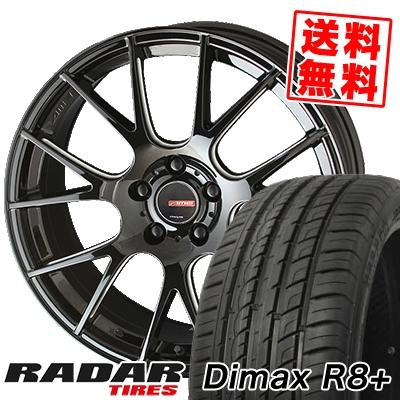 225/35R18 87Y XL RADAR レーダー Dimax R8+ ディーマックス アールエイト プラス CIRCLAR RM-7 サーキュラー RM-7 サマータイヤホイール4本セット
