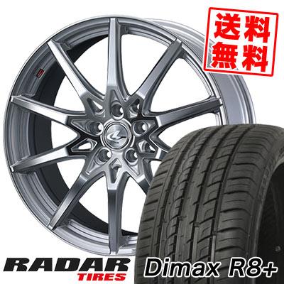 225/35R18 87Y XL RADAR レーダー Dimax R8+ ディーマックス アールエイト プラス weds LEONIS SV ウェッズ レオニス SV サマータイヤホイール4本セット