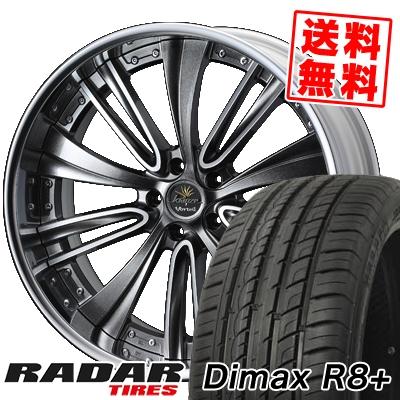 235/55R19 105W XL RADAR レーダー Dimax R8+ ディーマックス アールエイト プラス weds Kranze Vorteil ウェッズ クレンツェ ヴォルテイル サマータイヤホイール4本セット