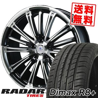 215/40R18 89Y XL RADAR レーダー Dimax R8+ ディーマックス アールエイト プラス BAHNS TECK VR-01 バーンズテック VR01 サマータイヤホイール4本セット
